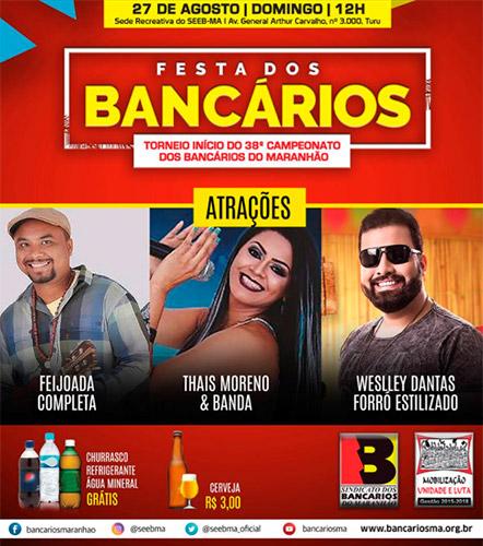 Vem aí a Festa do Dia do Bancário em São Luís